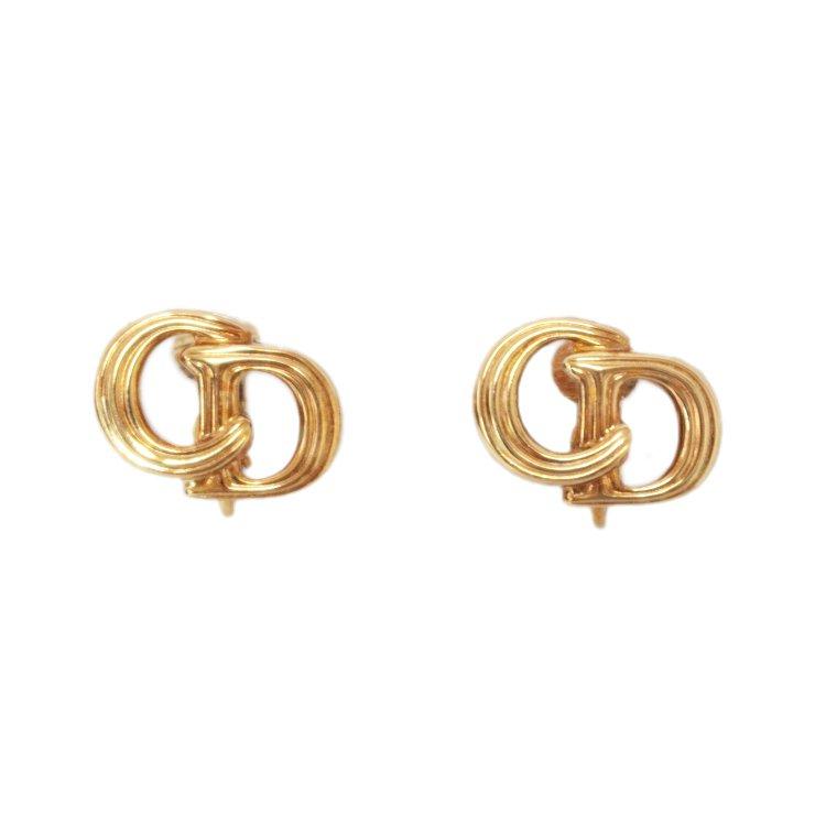 Dior ディオール ヴィンテージ<br>ロゴイヤリング