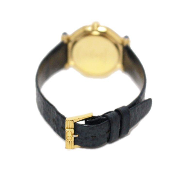 Dior ディオール ヴィンテージ<br>レザーベルトQZ腕時計 ネイビー