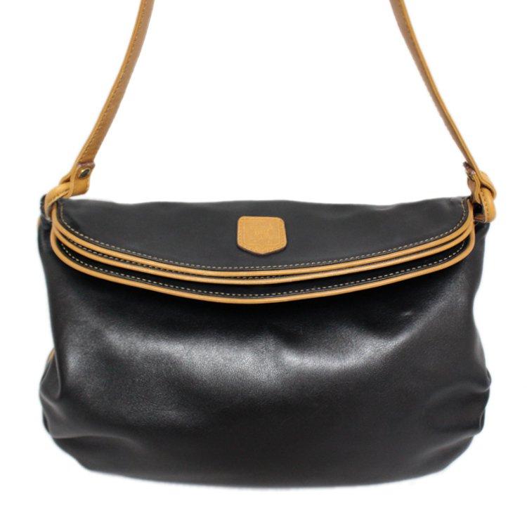 CELINE セリーヌ ヴィンテージ<br>ブラゾンバイカラーレザーショルダーバッグ