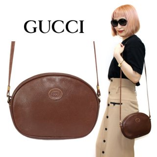 <img class='new_mark_img1' src='https://img.shop-pro.jp/img/new/icons14.gif' style='border:none;display:inline;margin:0px;padding:0px;width:auto;' />GUCCI グッチ ヴィンテージ<br>レザーショルダーバッグ ブラウン