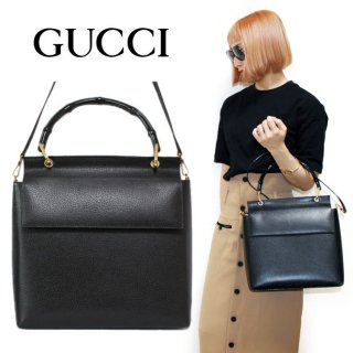 <img class='new_mark_img1' src='https://img.shop-pro.jp/img/new/icons14.gif' style='border:none;display:inline;margin:0px;padding:0px;width:auto;' />GUCCI グッチ ヴィンテージ<br>2WAYバンブーレザーハンド/ショルダーバッグ