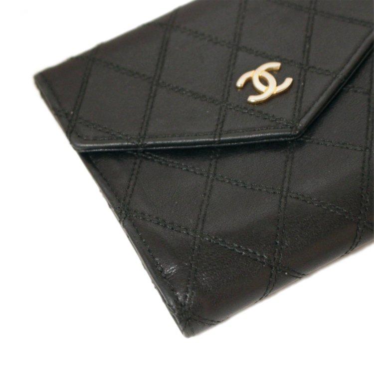 CHANEL シャネル ヴィンテージ<br>ココマークビコローレWホック二つ折り財布