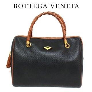 BOTTEGA VENETA ボッテガヴェネタ ヴィンテージ<br>バイカラータッセルボストンハンドバッグ