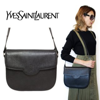 <img class='new_mark_img1' src='https://img.shop-pro.jp/img/new/icons14.gif' style='border:none;display:inline;margin:0px;padding:0px;width:auto;' />YSL イヴサンローラン ヴィンテージ<br>ロゴ型押しレザーショルダーバッグ