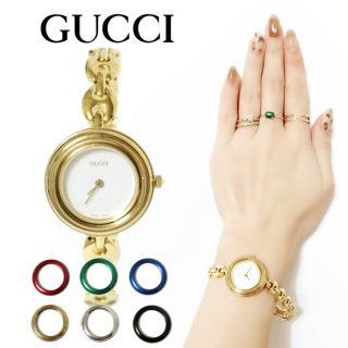 <img class='new_mark_img1' src='https://img.shop-pro.jp/img/new/icons14.gif' style='border:none;display:inline;margin:0px;padding:0px;width:auto;' />GUCCI グッチ ヴィンテージ<br>チェンジベゼルQZ腕時計 6色