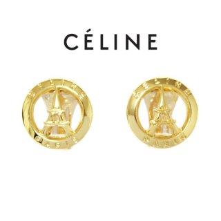 CELINE セリーヌ ヴィンテージ<br>PARISモチーフイヤリング