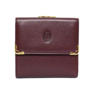 Cartier カルティエ ヴィンテージ<br>マストラインがま口二つ折り財布