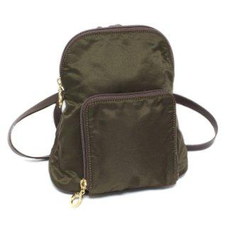 CELINE セリーヌ ヴィンテージ<br>ナイロンミニリュック カーキ