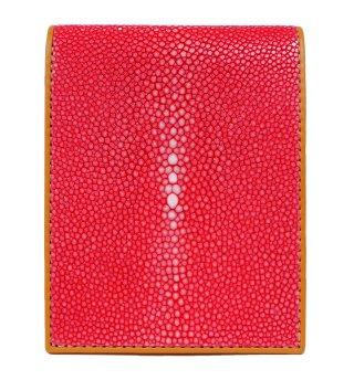 ショート 財布 (コインケースなし) レッド