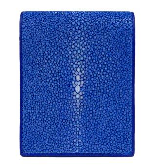 ショート 財布 ポリッシュ ブルー