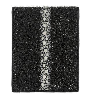 ショート 連石 財布 ポリッシュ ブラック