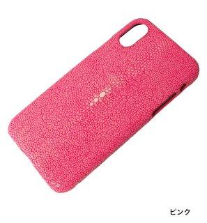 ガルーシャ iPhoneXケース ポリッシュ ピンク