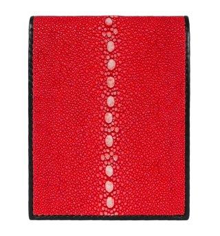 ガルーシャ ショート財布(連石)ポリッシュ レッド