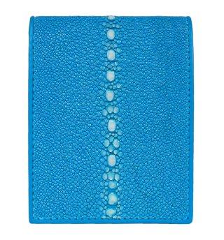 ガルーシャ ショート財布(連石)ポリッシュ ターコイズブルー