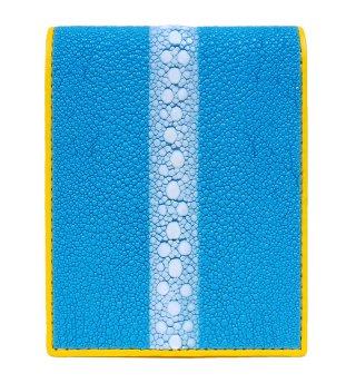 ガルーシャ ショート財布(連石)キャビア ターコイズブルー