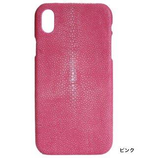 ガルーシャ iPhoneXRケース ポリッシュ ピンク