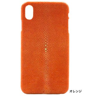ガルーシャ iPhoneXS Maxケース ポリッシュ オレンジ