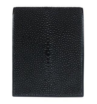 ショート 財布 (コインケースあり) キャビア ブラック