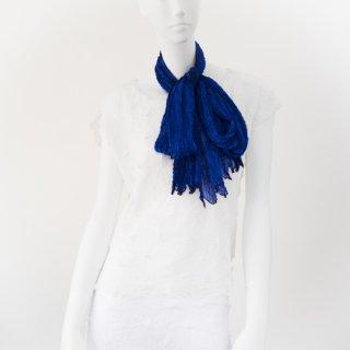 杢絞りスカーフ ロイヤルブルー