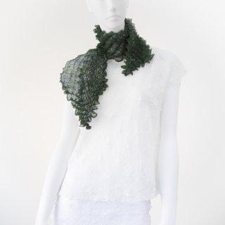 突き出し絞りスカーフ グリーン&パープル