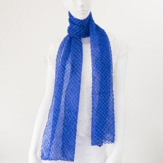 唄絞りレーススカーフ(ハーフ) ロイヤルブルー