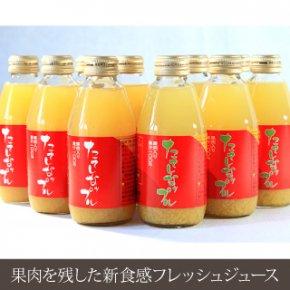 東信州 立科町<br/>たてしなップル<br/> 果肉入り林檎ジュース  ふじ&千秋<br/>