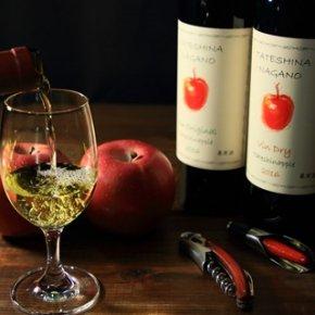 東信州 立科町<br/>たてしなップル アップルワイン<br/>りんごと酵母で時間をかけて熟成させた逸品<br/>