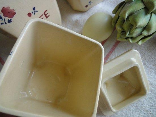 フランスアンティーク 陶器キャニスター(バドンヴィレー窯)