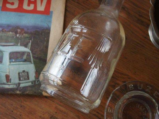 ヴィンテージSUZE(スーズ) ガラス製キャラフと灰皿のセット