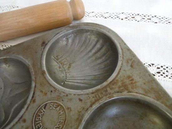 アンティーク ケーキ焼き型 マドレーヌ型(6個)