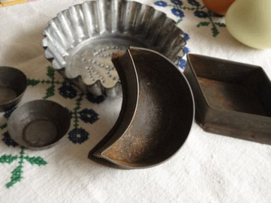 イギリスアンティーク 小さなお菓子の型セット(2)