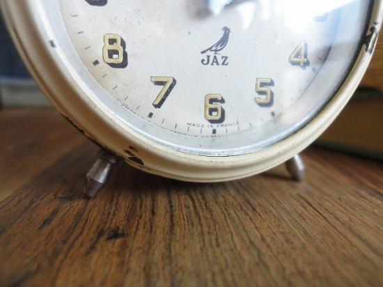 フランスアンティーク JAZ目覚まし時計(クリーム)