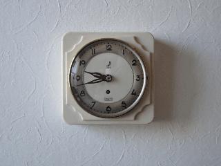 フランスJAZ社 ヴィンテージ掛け時計(8日巻き時計)