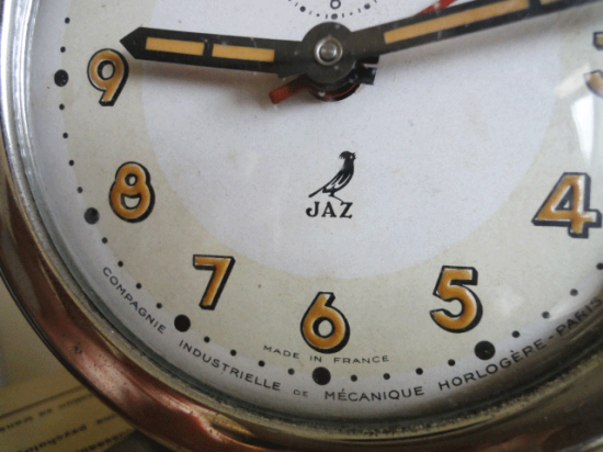 フランス JAZ目覚まし時計(レトログリーン)