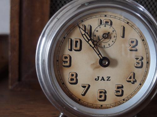 フランス JAZ目覚まし時計(初期クロムメッキ)