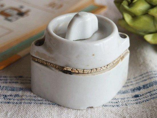 フランス 陶器のアンティークスイッチ