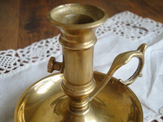 真鍮製 アンティークキャンドルホルダー(ハンドル付)