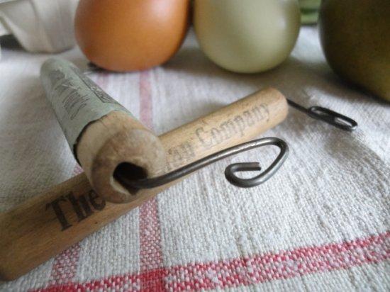 ヴィンテージ 買い物袋用の木製ハンドル