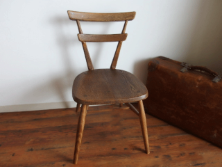 ERCOL(アーコール) スタッキングチェア 青ドット(刻印あり)