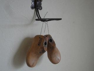 イギリスアンティーク 子供の木製靴型 Size 2 1/2