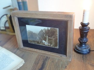フランス アンティークフォトフレーム(木製写真立て)