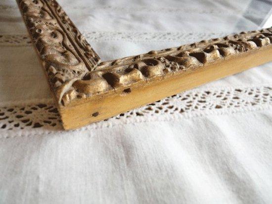 フランス アンティークフレーム(木製ゴールド色のアラベスク模様)