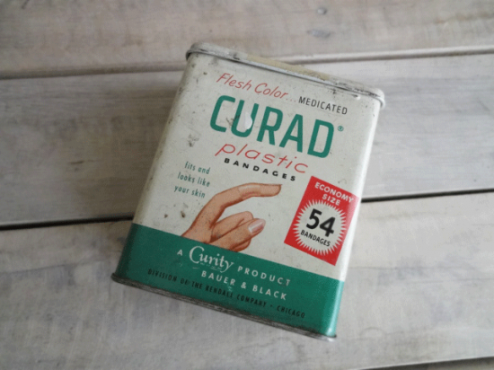 アメリカ 絆創膏CURADのヴィンテージ缶