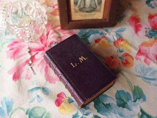 アンティーク洋書 革表紙の祈祷書