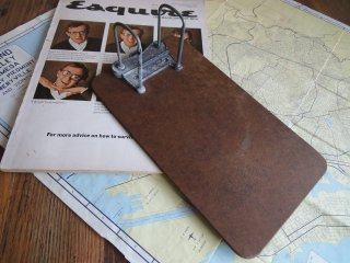 アメリカアンティーク 木製クリップボード(二つ穴バインダー)
