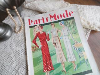 フランスのファッション雑誌 (Paris Mode 1931年7月号)