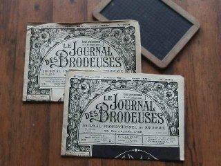 フランスの刺繍新聞 2枚セット (LE JOURNAL DES BRODEUSES)