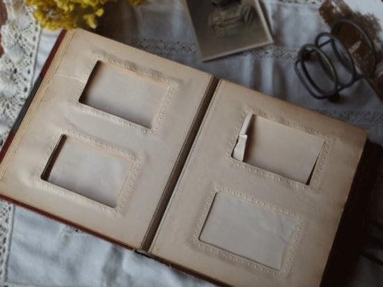 フランス 革と真鍮のアンティークアルバム