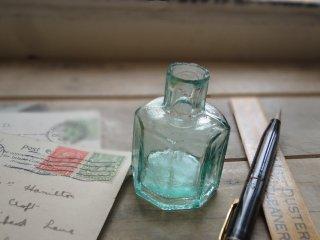 イギリス アンティーク インクボトル(八角形)