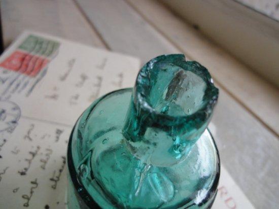 イギリス アンティーク インクボトル(丸)